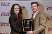 Valentina Cecchi of UNC Charlotte received recognition as a CBJ Young Leaders in Energy award recipient.