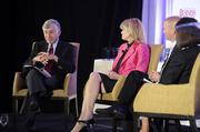 Michael Dukakis (left) moderates the panel discussion portion of the Excellence in Health Care event.  Read more about this year's class of honorees in the Oct. 5 print edition.