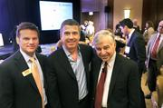 From left: Kevin Pitts, president and publisher of the Charlotte Business Journal, poses with Alan Sauber, chief ethics and compliance officer for Premier Inc., and Michael Dukakis, panel moderator for the 2012 Excellence in Health Care event. Read more about this year's class of honorees in the Oct. 5 print edition.