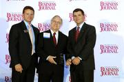 The Charlotte Business Journal's second annual Excellence in Health Care Awards program recognizes 36 honorees that are delivering the best health care in the market. Here, CBJ Publisher and President Kevin Pitts (left) and Tom Hodges (right) of event sponsor SunTrust Bank stand with Dr. A. Van Moore of Charlotte Radiology as he accepts an award for Physician of the Year. Read more about the individuals and companies recognized in the Oct. 5 print edition.