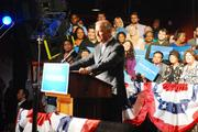 Biden speaks to a crowd of about 1,050 at the N.C. Music Factory.