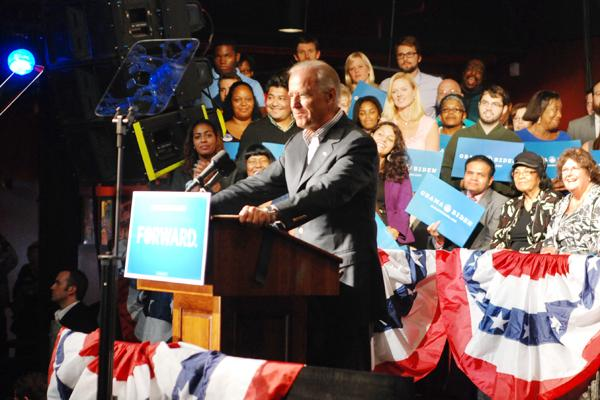Vice President Joe Biden spoke to a crowd of about 1,050 Tuesday at the N.C. Music Factory.