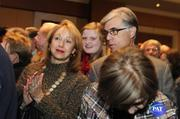 Supporters Patty Shannon, Caroline Owens, Keith Shannon react to news that McCrory has won the race for the governor's office.
