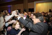 McCrory celebrates with supporters at The Westin.