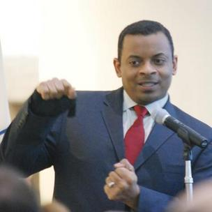 Charlotte Mayor Anthony Foxx is on the blue side politically.