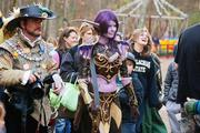 Costumed characters mingle with revelers at the Carolina Renaissance Festival.