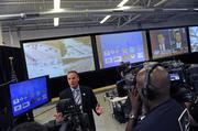 Derek Verdeyen, deputy assistant director of the U.S. Secret Service, Office of Protective Operations, talks with journalists at the Multi-Agency Communications Center for the Democratic National Convention. Click here for the full photo gallery featuring the security command center.