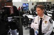Ruth Story, deputy chief of the Charlotte-Mecklenburg Polic Department, is interviewed by CNN at the Multi-Agency Communications Center.