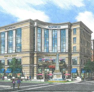 SunTrust (NYSE:STI), the Charlotte market's sixth-largest bank by local deposits, is building a new regional headquarters in SouthPark.