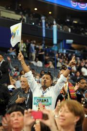 Delegates cheered speaker after speaker Tuesday night at Time Warner Cable Arena.