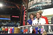 Democratic women serving in the U.S. House, led by minority leader Nancy Pelosi, were among the speakers Tuesday night at the DNC.