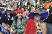 Delegates were in a festive mood Tuesday night.