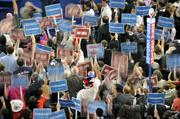 Democrats packed the floor at Time Warner Cable Arena on Tuesday night.