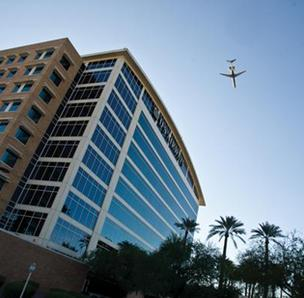 US Airways (NYSE:LCC) has its headquarters in Tempe, Ariz. Its largest hub is in Charlotte.