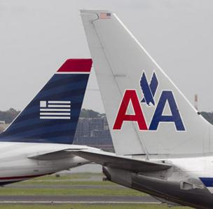 US Airways and American Airlines planes