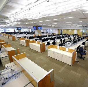 Wells Fargo opened its largest trading center in Charlotte's Duke Energy Center in December.