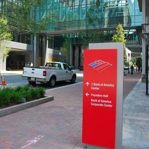 Bank of America is based in Charlotte, where it employs about 15,000 people.