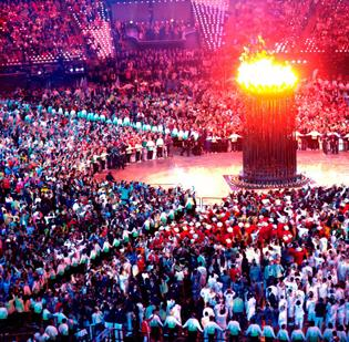 Charlotte is among 35 cities that have been asked by the U.S. Olympic Committee to consider hosting the 2024 Summer Games. Pictured here is the Olympic cauldron during the opening ceremony for last year's games in London.