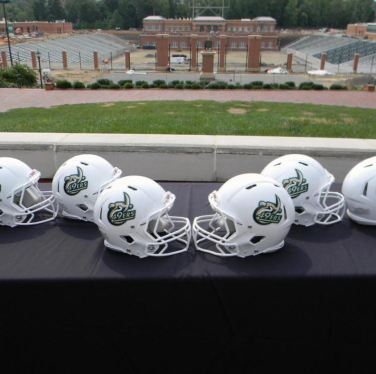 UNC Charlotte's football stadium is under construction at the main campus.