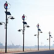 ARVA's solar- and wind-powered streetlights don't have to be connected to electric power.