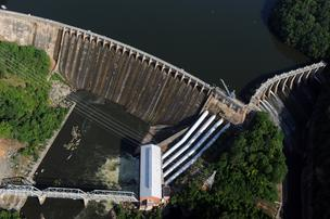 The Narrows Dam is a part of the Yadkin Project string of hydroelectric dams on the Yadkin River.