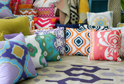 Lively colored prints will be offered in dorm room furnishings.