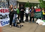 Green groups take protests into Duke Energy meeting