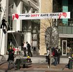 Charlotte police arrest six Greenpeace activists outside Duke Energy headquarters