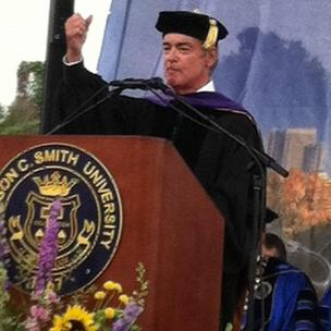 Duke Energy CEO Jim Rogers told Johnson C. Smith University graduates that the way they face their challenges will determine their life's course.
