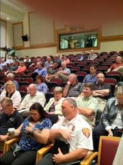 About 60 people attended Monday's public meeting about the Shearon Harris nuclear plant, held by the Nuclear Regulatory Commission and Duke Energy Progress.