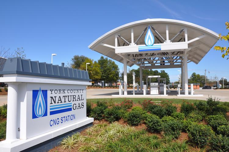 York County Natural Gas Authority opened its compressed natural gas station for public use Oct. 1.