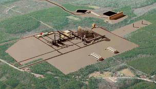 Southern Co.'s rendering of its proposed Plant Ratcliffe gasified-coal plant.