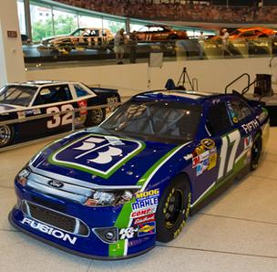 Fifth Third Bank became a NASCAR sponsor this week with a four-race agreement to place its logo on the hood of the car driven by current Daytona 500 champ Matt Kenseth.