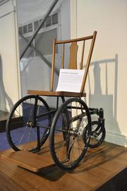 Here is FDR's wheelchair.