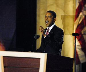 President Barack Obama's Thursday night acceptance speech has been moved to Time Warner Cable Arena from Bank of America Stadium. Here he is shown speaking at the DNC in Denver in 2008.