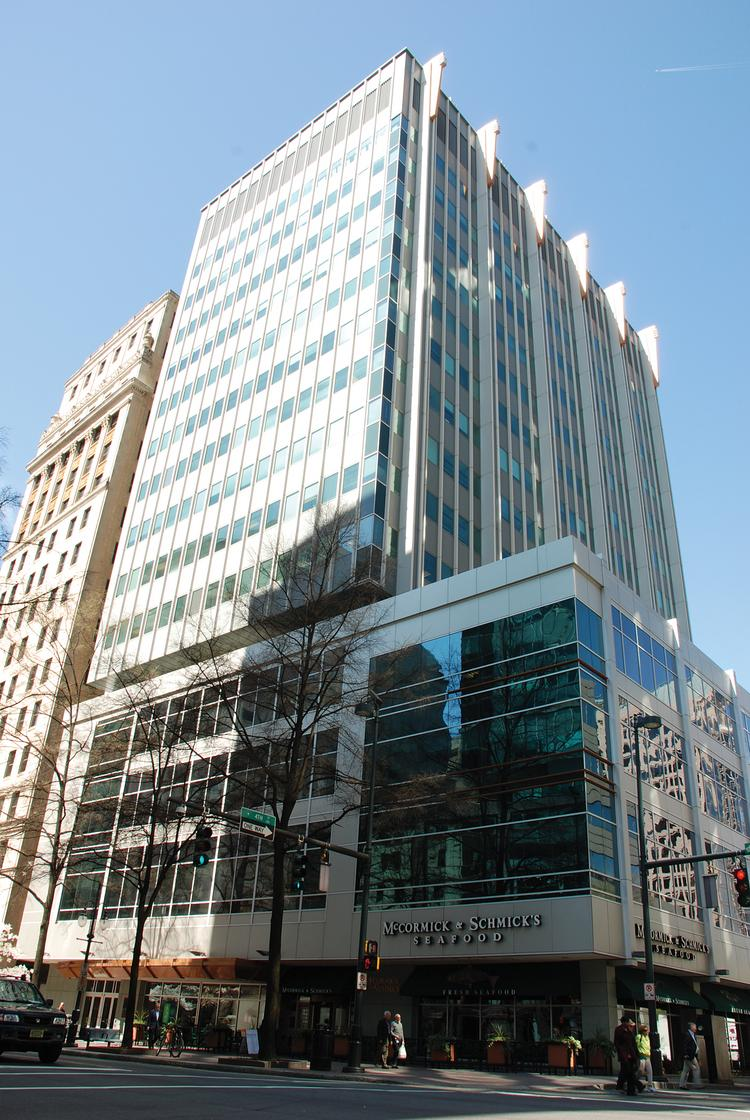 A foreclosure sale has been scheduled later this week for the 200 South Tryon building.