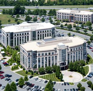 Polymer Group Inc.'s headquarters is in Harris Corners Business Park in north Charlotte.