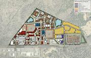 The site plan for the proposed project at Providence and Ardrey Kell roads