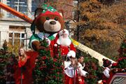 What Thanksgiving Day parade would be complete without Santa Claus bringing up the end?