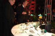 A silent auction sponsored by Perry's at SouthPark featured sports collectibles, art, fine jewelry and other items.