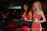 Models in evening gowns served as hostesses for the evening, escorting guests to dinner and looking after each table.