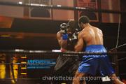 The main event featured four live, professional boxing matches and an exhibition fight between Sugar Ray Leonard of Los Angeles and Matt Johnson of Mooresville.