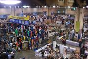 The main floor of the convention spans 100,000 square feet.