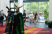 Many of the visitors to HeroesCon donned costumes.