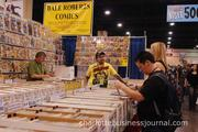 Comic collectors browse through box after box of sometimes hard-to-find books.