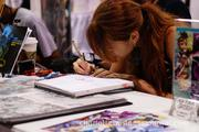 Artists show off their skills at booth after booth at HeroesCon.