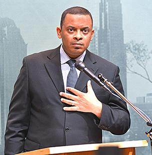 Mayor Anthony Foxx took streetcar critics to task during his state of the city address Monday at the Government Center.