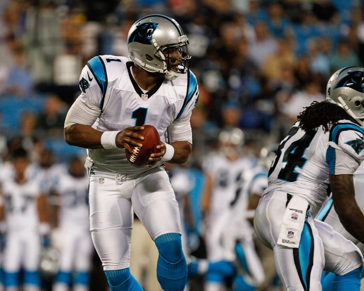 Cam Newton and the Carolina Panthers face the New Orleans Saints in the local team's home opener Sunday.