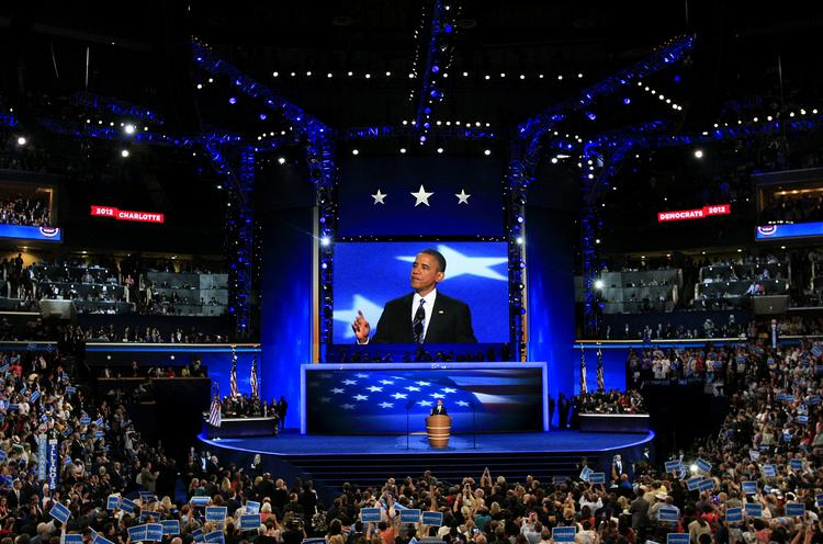 The 2012 Democratic National Convention was held in Charlotte during the first week of September.