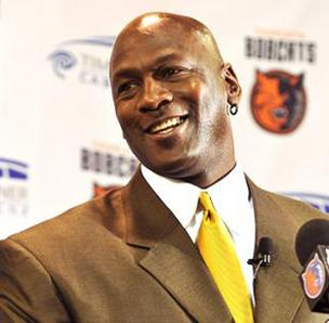 Basketball legend Michael Jordan is the majority owner of the Charlotte Bobcats.